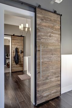 Image result for distressed wood barn doors